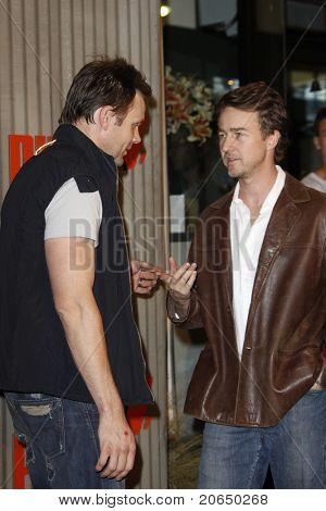 LOS ANGELES - NOV 11: Joel McHale and Ed Norton at PUMA Presents The African Bazaar Party in Los Angeles, California on November 11, 2009.