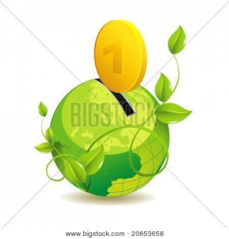 eco globe icon