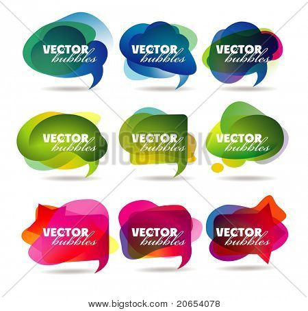 vector bubbles for speech eps10