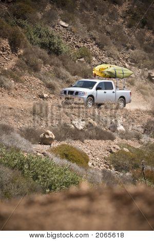 Truck On Desert Trail