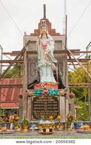 Construction Of Kuan Yin.