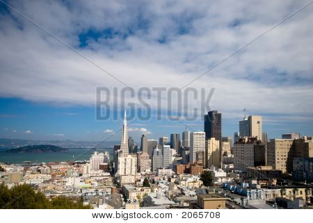 San Francisco Financial District (Wide Angle Composition)