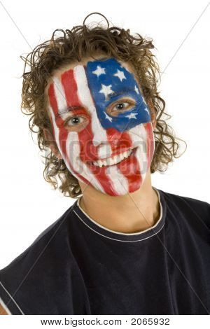 Smiling American Supporter