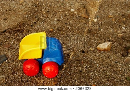 Toy Truck On  Sand