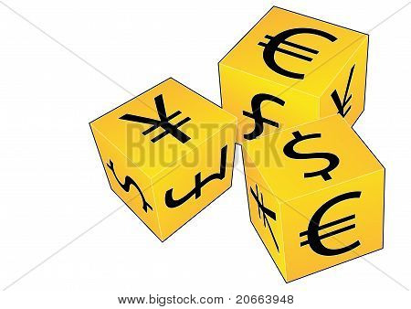 Currency dice