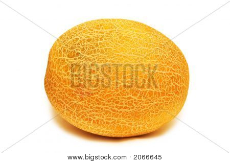 Yellow Melon Isolated On The White Background