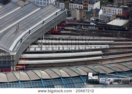 Waterloo train station in London