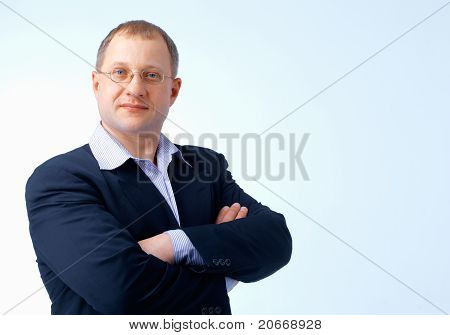 Man With Folded Hands