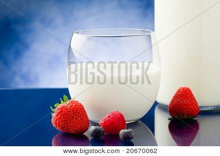 Milk With Berries