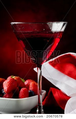 Cocktail With Berries