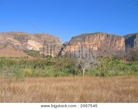 Savannah And Mountains, Isalo Park, Madagascar