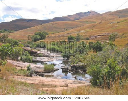 Small River Between The Hills, Andringitra Park, Madagascar
