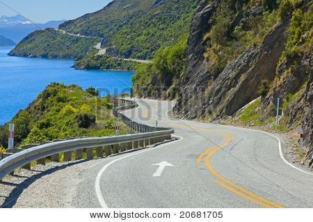 Road Along The Lake