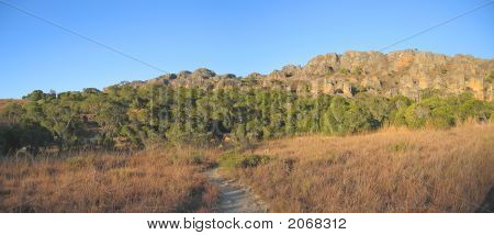 Savannah With Mountains, Isalo Park, Madagascar, Panoramique