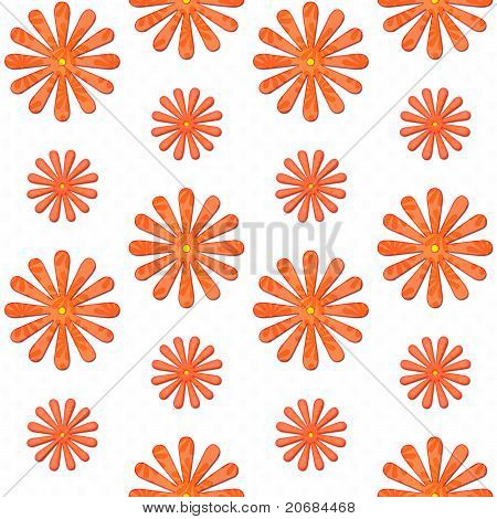 Orange Daisy Seamless Background