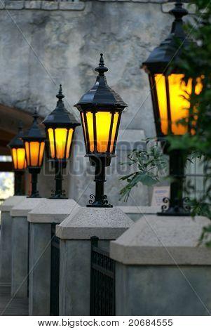 Glowing Lanterns On A Romantic Terrace