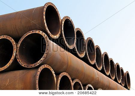 iron pipes and steel tubes