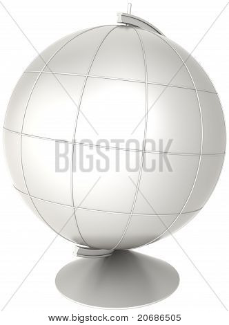 Blank globe desktop Earth planet white