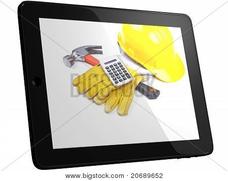 Tools On Tablet Computer Screen
