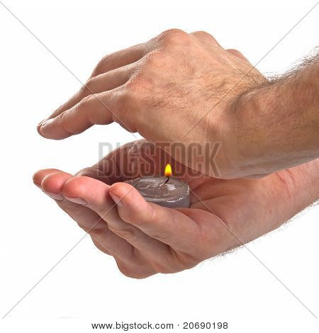 Small Candle In The Hands