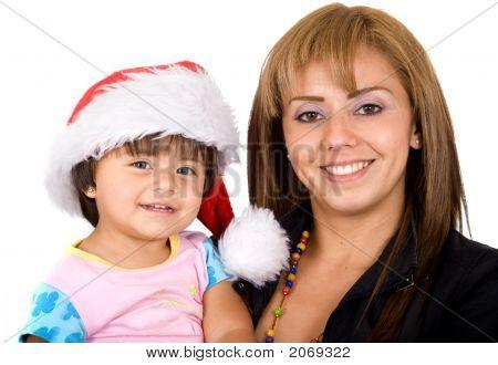 Baby Santa And Her Mum