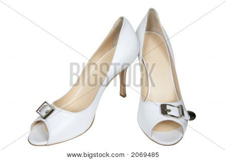 White Leather Shoe