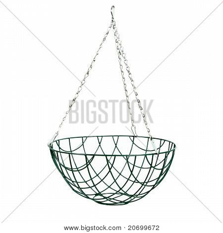 Hanging Basket Isolated On White