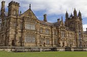 image of quadrangles  - Gothic Revival style buildings of the University of Sydney Main Quadrangle - JPG