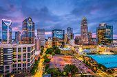 Charlotte, North Carolina, USA skyline. poster