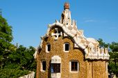 BARCELONA, SPAIN - JUNE 5: The famous Park Guell on June 5, 2010 in Barcelona, Spain. The famous par