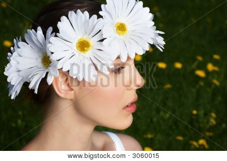 Woman With Flower Diadem