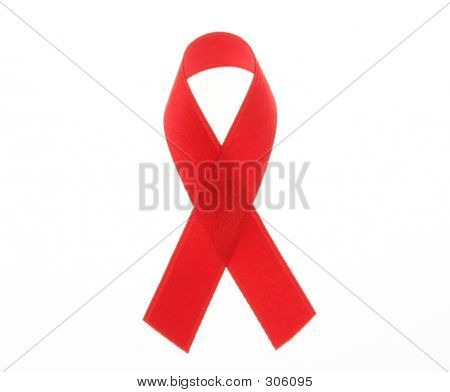 Red Ribbon Symbol For Aids