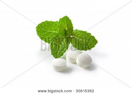 Green Mint And White Pills