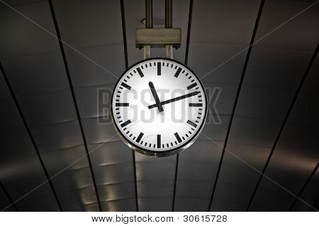 Clock in railway station