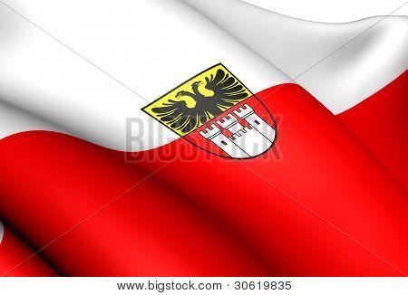 Bandera de Duisburg, Alemania.