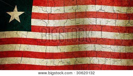 Grunge Liberia Flag