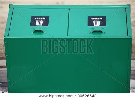 Recycle bins.