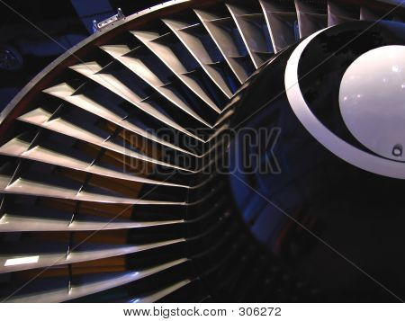 Partial View Of Jet Engine