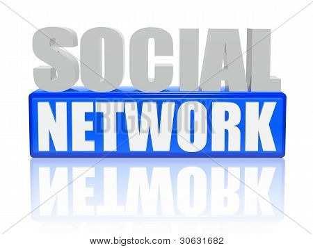 Social Network - Letters And Cubes