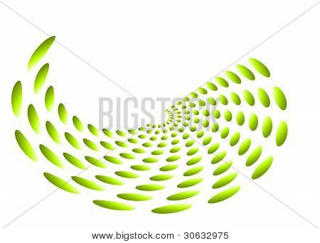 Green abstract swirl