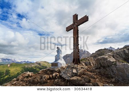 Cross In Castellazzo Mount