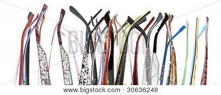 lot of earpiece glasses