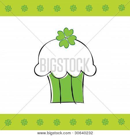 Saint Patrick's Day Cupcake