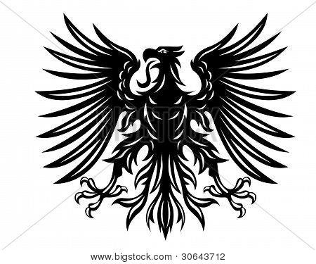 Black Heraldic Eagle