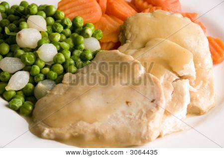 Sliced White Meat Chicken Dinner