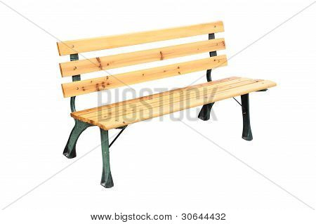 Wooden and iron leg bench