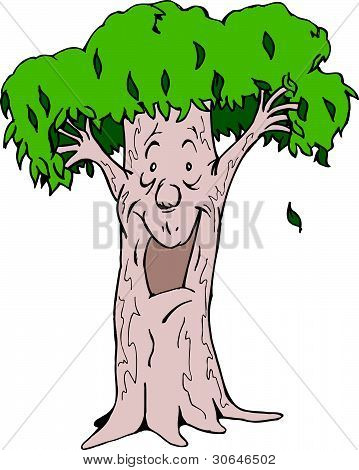 Cartoon Gum Tree
