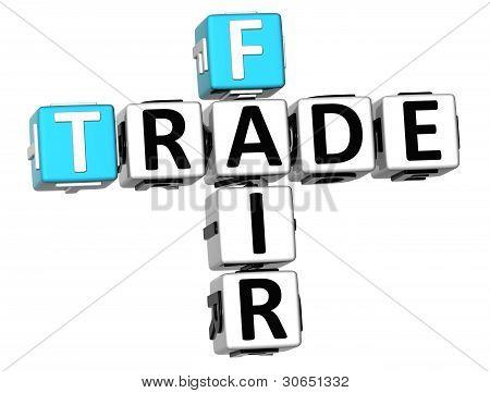 3D Fair Trade Crossword Cube Words