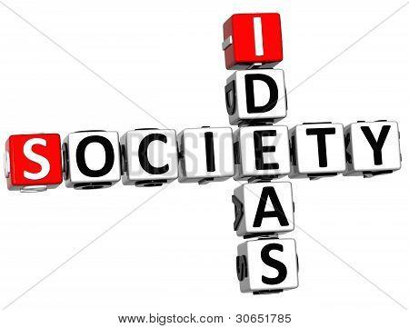 3D Society Ideas Crossword Cube Words