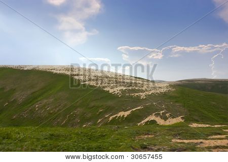 Golets on bold mountains